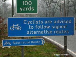 Fahrradfahren in Grossbritannien…