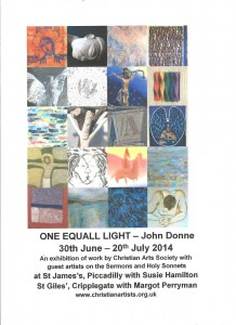 One Equall Light – John Donne / Ausstellung in London