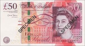 Achtung – Neue 50 Pfund Noten